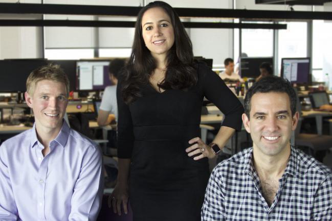 Fundadores de Nubank: David Vélez, Edward Wible, Cristina Junqueira