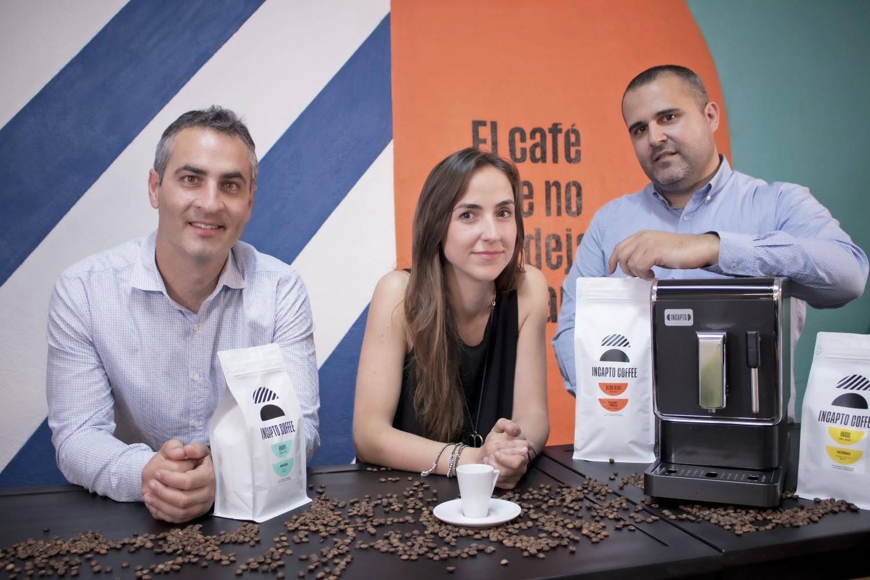 Fundadores de la startup Incapto Coffee.