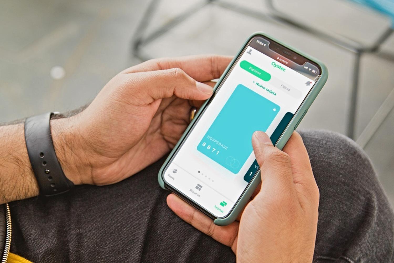Aplicación móvil del fintech Oyster Financial.