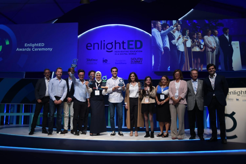 Ganadores de los premios enlightED Awards, sobre edtech.