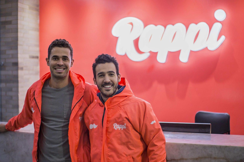 Dos de los fundadores de la startup colombiana Rappi.