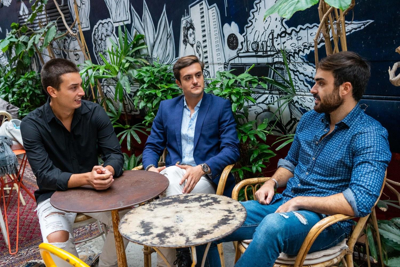 Edgar Vicente, Iván Fernández y Markus Törstedt, fundadores de Enzo Ventures.