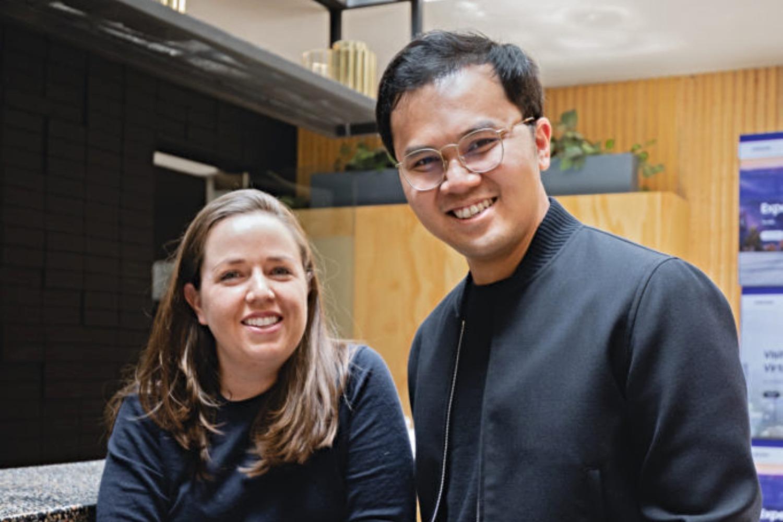 Maricarmen Herrerias y Nico Barawid, fundadores de la startup mexicana Casai.