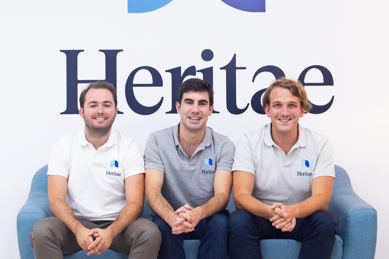 Ernesto Rivera, Javier Alcocer y Víctor Ortiz, fundadores del legaltech Heritae.