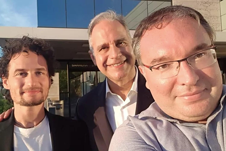 Sam Mugel, Enrique Lizaso y Román Orús, fundadores de Multiverse Computing.