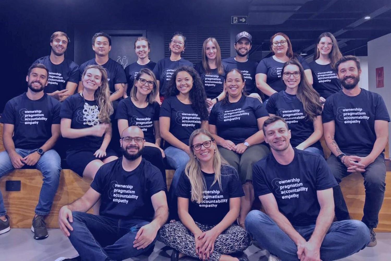 Imagen de equipo de la startup brasileña Olist.