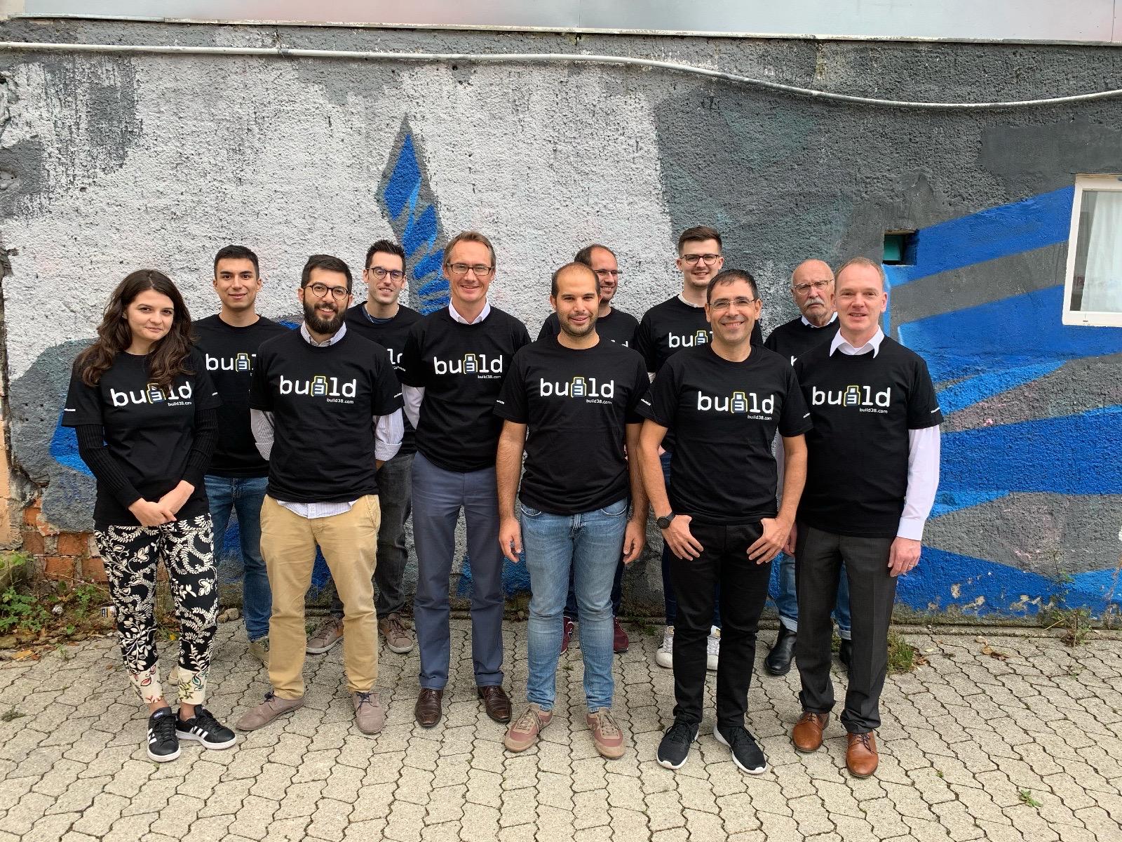 Foto de equipo de la startup alemana BUild38.