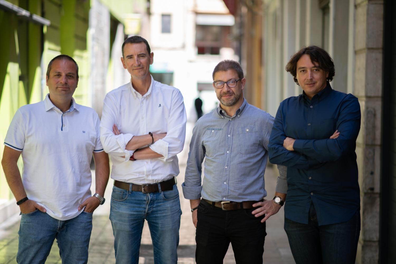 Jesús Iglesias, director de Tecnología de Aunoa; José Manuel Sanchis, director general; Fernando Pérez, director corporativo, y Ángel Navarro: director de Operaciones.