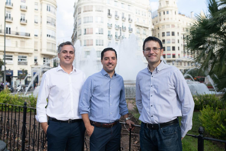 Vicent Soler, Javier Grau y Javier López, cofundadores de Kenmei Technologies.