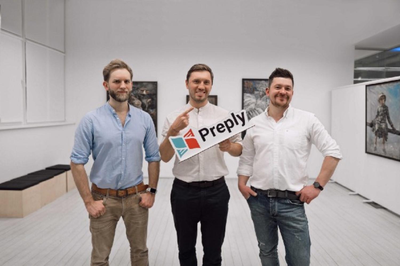 Kirill Bigai, Serge Lukyanov y Dmytro Voloshyn, fundadores de Preply.