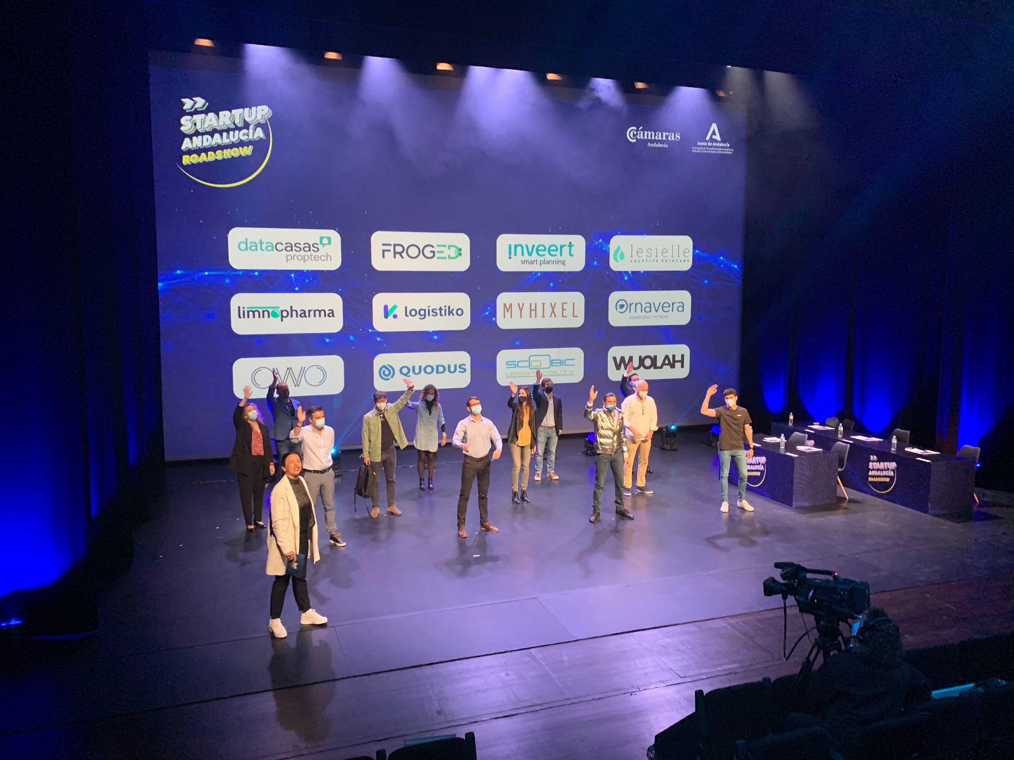 Limnopharma, Myhixeles, Owo Game, Scoobic y Wuolah, ganadoras de Startup Andalucía Roadshow