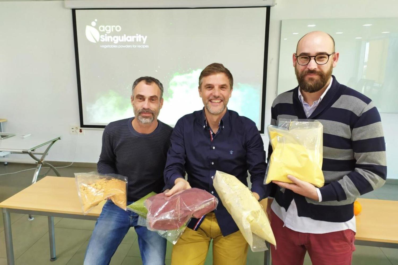 Juanfra Abad, Luis Rubio y Daniel Andreu, fundadores de Agrosingularity.