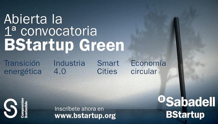 Banco Sabadell abre la convocatoria BStartup Green para invertir en startups de sostenibilidad ambiental