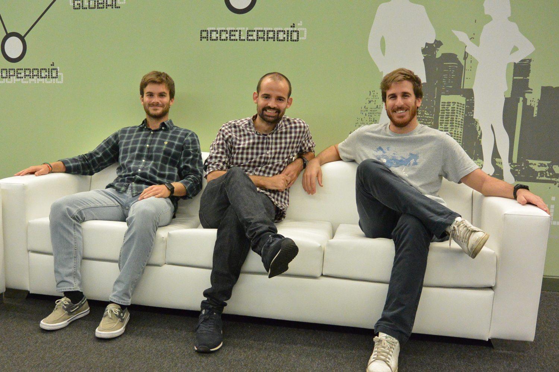 Marc Millet (CEO), Nil Oleaga (COO) y Lucas Llobet (CTO), fundadores de Evix.