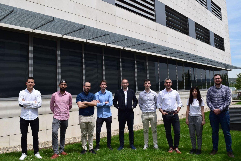 Equipo de la startup navarra Uptech Sensing.