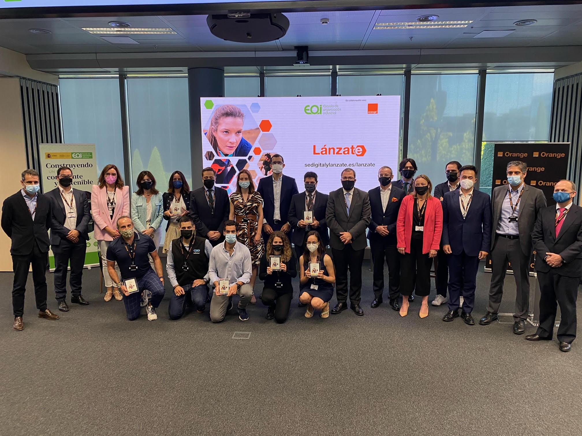 """EOI y Orange presentan la IV edición del Programa """"Lánzate"""" que conecta a emprendedores y grandes empresas"""