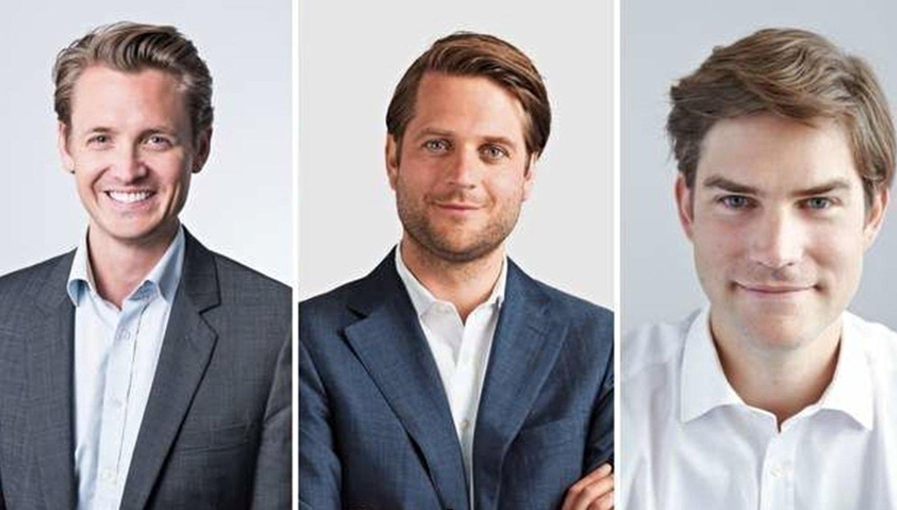 Fundadores de la startup sueca Klarna.