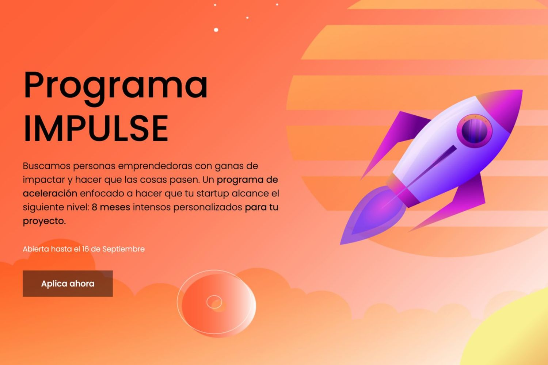 Imagen de la web del programa IMPULSE.