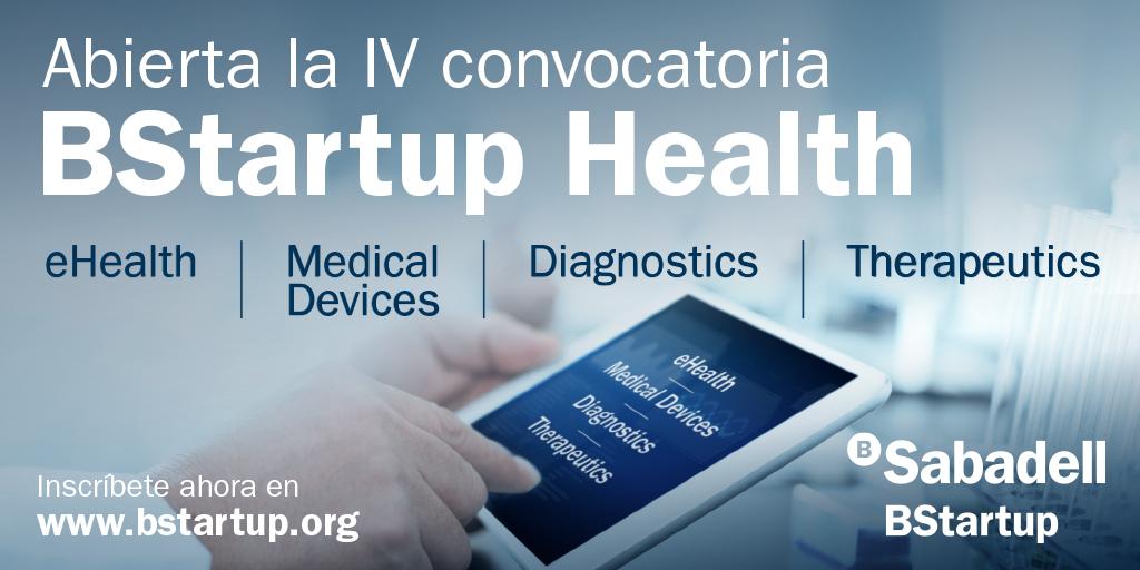 Abierta la IV convocatoria de BStartup Health hasta el 30 de septiembre