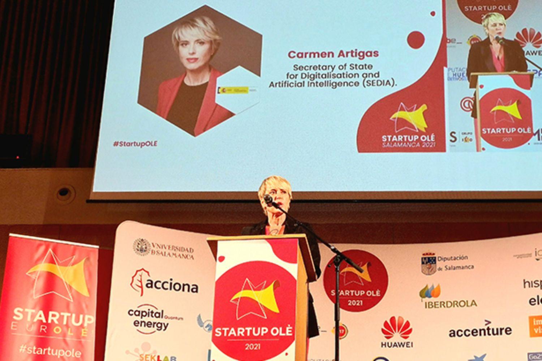 Imagen de la presentación de INCIBE Emprende en Startup Olé.