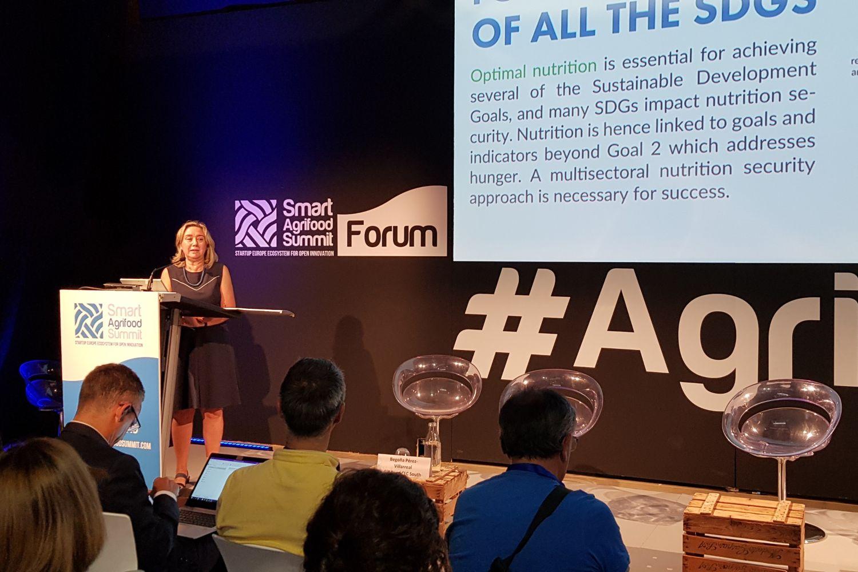 Imagen de Begoña Pérez Villarreal, directora de EIT Food en el Sur de Europa, en una edición anterior de Smart Agrifood Summit.