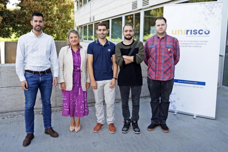 Los fundadores de InVerbis Analytics en UNIRISCO.