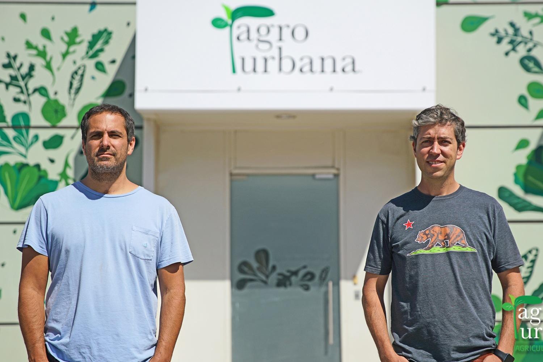 Cristián Sjögren y Pablo Bunster, fundadores de AgroUrbana.
