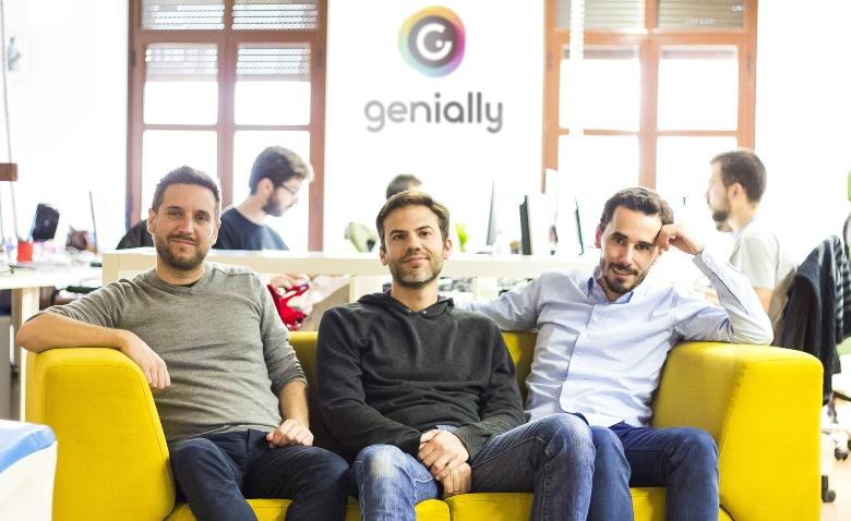 Fundadores de la startup andaluza Genial.ly